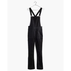 NWT MADEWELL Cali Demi-Boot Overalls Black Frost